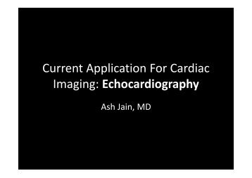 Current Application For Cardiac Imaging ... - NUCLEUS