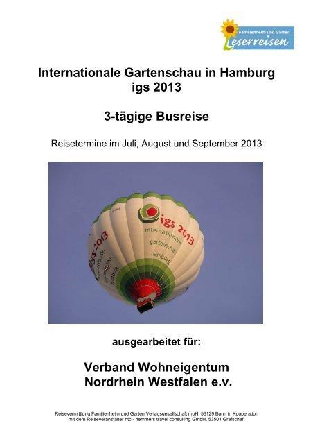 Internationale Gartenschau in Hamburg igs 2013 3 ... - Leserreisen
