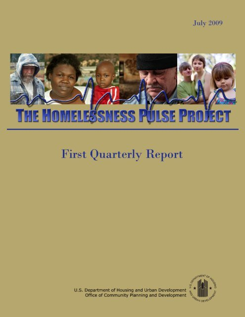 The Homelessness Pulse Project: First Quarterly Report - OneCPD