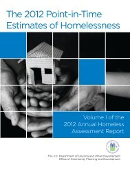 The 2012 Point-in-Time Estimates of Homelessness ... - OneCPD
