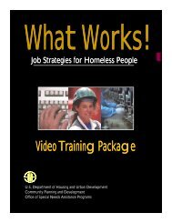 What Works! Job Strategies for Homeless People - OneCPD