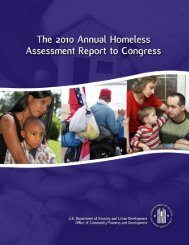 2010 Annual Homeless Assessment Report to Congress - OneCPD