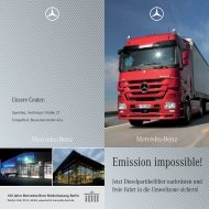 Emission impossible! - Mercedes-Benz Niederlassung Berlin