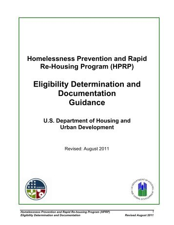 HPRP Eligibility Determination and Documentation ... - OneCPD