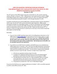 Q10 Quarterly Reporting Deadline Extension - OneCPD