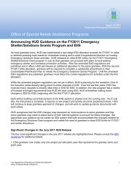 Announcing HUD Guidance on FY2011 Emergency Shelter - OneCPD