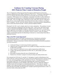 Guidance for Counting Veterans During 2011 Point-in ... - OneCPD