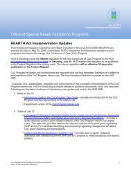 HEARTH Act Implementation Updates - OneCPD