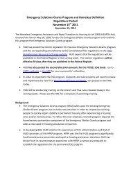 Emergency Solutions Grants Program and Homeless ... - OneCPD