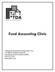 Fund Accounting Clinic Manual - OneCPD