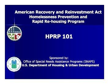 HPRP 101 Webcast - OneCPD