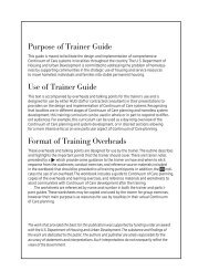 Trainer Guide to Continuum of Care Planning and ... - OneCPD