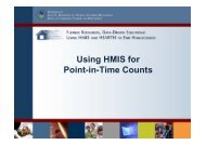 Using HMIS for Point-in-Time Counts (Presentation) - OneCPD