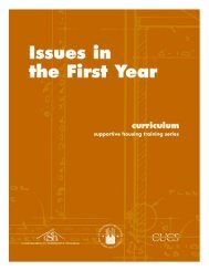 Issues in the First Year (Curriculum and Handouts) - OneCPD