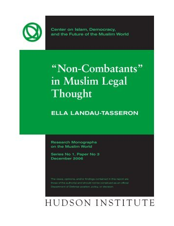 """""""Non-Combatants"""" in Muslim Legal Thought - Hudson Institute"""
