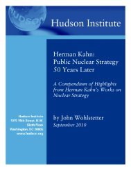 Herman Kahn: Public Nuclear Strategy 50 Years ... - Hudson Institute