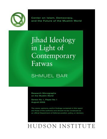 """Jihad"" paper - Current Trends in Islamist Ideology"