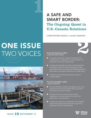 A Safe and Smart Border - Pacific NorthWest Economic Region