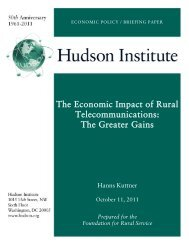 The Economic Impact of Rural Telecommunications - Hudson Institute