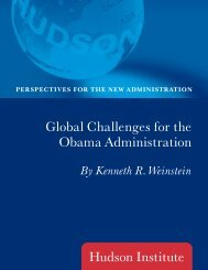 Global Challenges for the Obama Administration - Hudson Institute