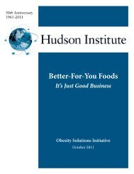 Better-For-You Foods: It's Just Good Business - Hudson Institute
