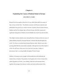 Explaining the Causes of Radical Islam in Europe - Hudson Institute