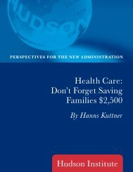 Health Care: Don't Forget Saving Families $2,500 - Hudson Institute