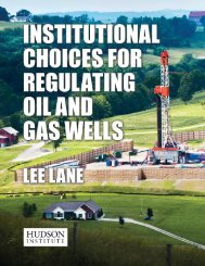 Institutional Choices for Regulating Oil and Gas ... - Hudson Institute