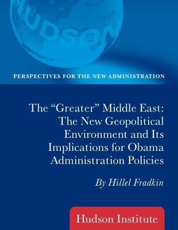 "The ""Greater"" Middle East - Hudson Institute"