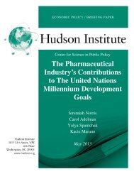 The Pharmaceutical Industry's Contributions to ... - Hudson Institute