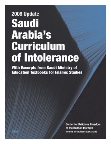 Saudi Arabia's Curriculum of Intolerance - Hudson Institute