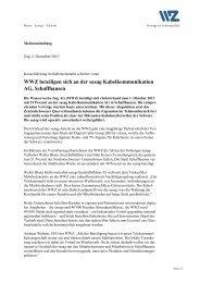 2. Dezember 2013 - WWZ beteiligen sich an der sasag ...