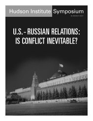 U.S.-Russian Relations: Is Conflict Inevitable? - Hudson Institute