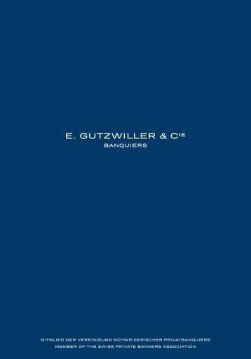 Download unserer Broschüre - E. Gutzwiller & Cie Banquiers