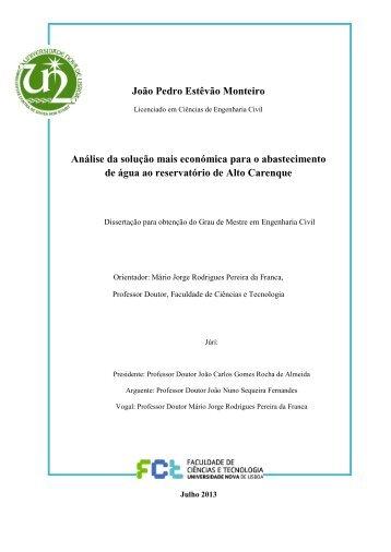 João Pedro Estêvão Monteiro Análise da solução mais ... - RUN