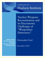 Nuclear Weapons Reconstitution and its Discontents - Hudson Institute