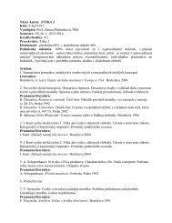 Názov kurzu: ETIKA 2