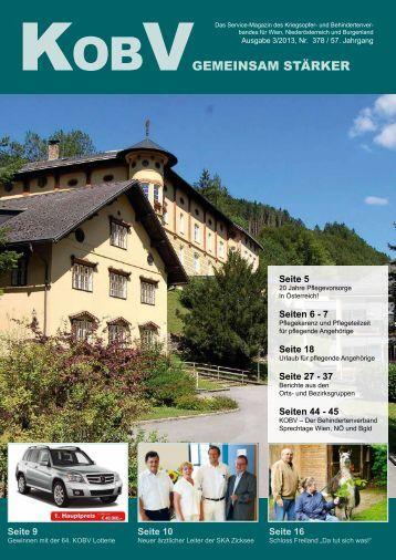 """KOBV GEMEINSAM STÃ""""RKER, Ausgabe 3/2013"""