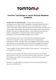 TomTom Technologie in neuen Renault Modellen erhältlich - Jenni ...