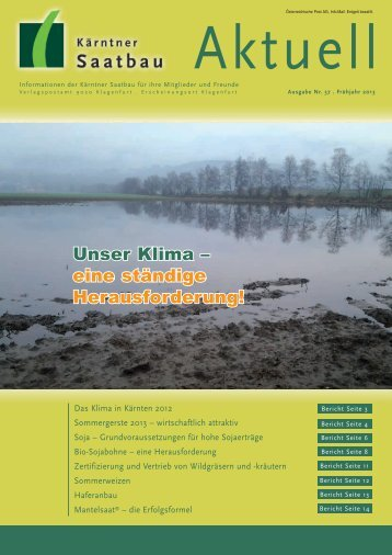 Sommergerste 2013 - Kärntner Saatbau