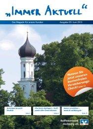 Kundenzeitschrift - Raiffeisenbank Aschberg eG