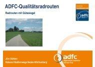 ADFC-Qualitätsradrouten - B2B