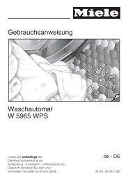 Gebrauchsanweisung Waschautomat W 5965 WPS - Schwab