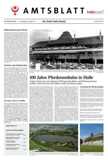 Amtsblatt Nr. 18 vom 30. Oktober 2013 - Stadt Halle (Saale)