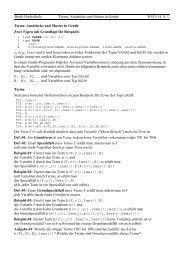 Beuth Hochschule Terme, Ausdrücke und Muster in Gentle WS13/14 ...