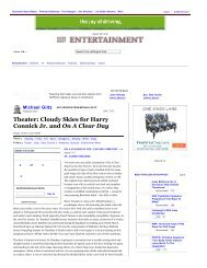 Michael Giltz: Theater: Cloudy Skies for Harry  Connick Jr. and On A ...