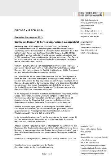 als 740 Unternehmen im Test (pdf, 33 kb) - Deutsches Institut für ...