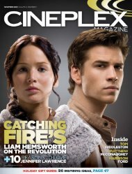 Cineplex Magazine November2013