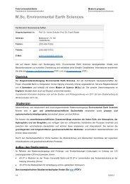 M.Sc. Environmental Earth Sciences - Fachbereich ...