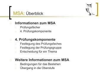 MSA 2014 - Georg-Herwegh-Gymnasium